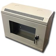 "Datacom 10"" 6U/140 mm (sklo) sivý"