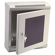 "Datacom 10"" 9U/140 mm (sklo) sivý"