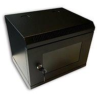 """Datacom 10"""" 6U/280 mm (sklo) čierny - Rozvádzač"""