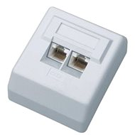 Datacom Dátová zásuvka UTP CAT6 na omietku 2455 - Zásuvka