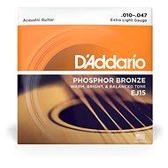 Daddario EJ15 Phosphor Bronze Extra Light – .010 - .047 - Struny