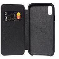 Decoded Leather Slim Wallet Black iPhone XS Max - Ochranný kryt