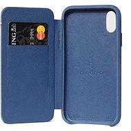 Decoded Leather Slim Wallet Blue iPhone XS Max - Kryt na mobil