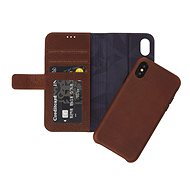 Decoded Leather 2 in 1 Wallet Case Brown iPhone X - Puzdro na mobil