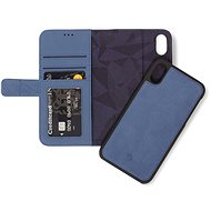 Decoded Leather 2in1 Wallet Blue iPhone XS Max - Puzdro na mobil
