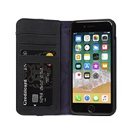 Decoded Leather Wallet Case Black iPhone 8/7/6s/SE 2020 - Puzdro na mobil