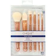 Chique™ RoseGold Total Face Kit 7 pcs - Sada kozmetických štetcov