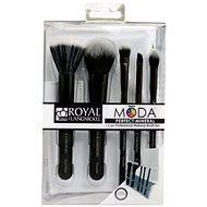 Moda® Perfect Mineral Black Brush Kit 6 ks - Sada kozmetických štetcov