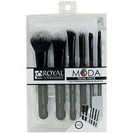 Moda® Total Face Black Brush Kit 7 ks - Sada kozmetických štetcov