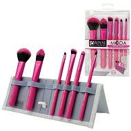 Moda® Total Face Pink Brush Kit 7 ks - Sada kozmetických štetcov