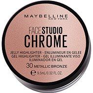 MAYBELLINE NEW YORK Face Studio Chrome Jelly Highlighter 30 Metallic Bronze, 9.5ml - Brightener