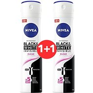 NIVEA Black & White Invisible Clear 150 ml 1+1