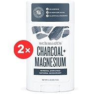 SCHMIDT'S Signature activated charcoal + magnesium 2 × 58 ml