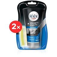 VEET Men Silk & Fresh Sensitive Skin Shower Cream 2× 150 ml