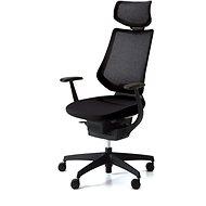 ING Glider 360° s podhlavníkom – čierna - Kancelárska stolička