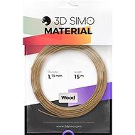 3DSimo Filament WOOD – hnedá 15m - Filament do 3D pier