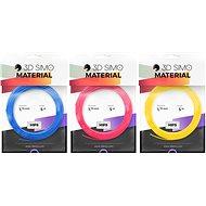 3DSimo Filament HIPS – modrá, ružová, žltá 15m - Filament do 3D pier