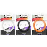 3DSimo Filament ABS II – oranžová, čierna, biela 15m - Filament do 3D pier