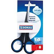 Kancelárske nožnice DONAU 14 cm Soft Grip čierno/modré - Kancelářské nůžky