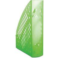 DONAU 70 mm transparentný/zelený - Stojan na časopisy
