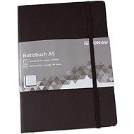 Zápisník DONAU A5 96 listov, štvorčekový, čierny