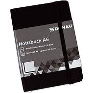 Zápisník DONAU A6 96 listov, štvorčekový, čierny