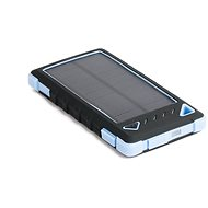 DOCA Powerbank Solar 8 000 mAh čierna/modrá - Power Bank