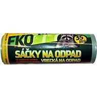 VIPOR LDPE Eko s páskou 35 l, 15 ks, zelené