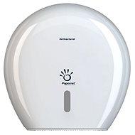 PAPERNET Magazine for Mini Jumbo Antibacterial Plastic, white - Toilet Roll Dispenser