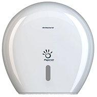 PAPERNET Magazine for Maxi Jumbo Antibacterial Plastic,  White - Toilet Roll Dispenser