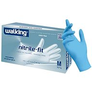WALKING Nitrile Fit 100 ks, nitrilové, modré, S