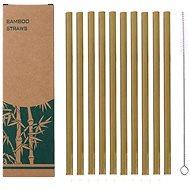 CHARCOAL Bambusová brčka set 10 ks s kartáčkem