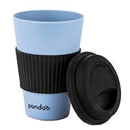 PANDOO Opakovane použiteľný bambusový téglik na kávu a čaj, 450 ml modrý