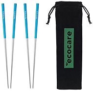 ECOCARE Metal Chopsticks with Cover Silver-White 4 pcs - Cutlery Set