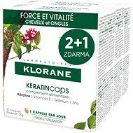 KLORANE KeratinCaps - Strength & Vitality, Hair and Nails, Food Supplement, 3×30 Capsules - Dietary Supplement