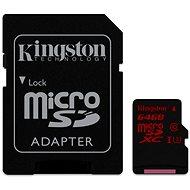Kingston micro SDXC 64 GB UHS-I U3 + SD adaptér - Pamäťová karta