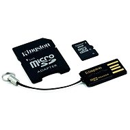Kingston microSDHC 8GB Class 4 + SD adaptér a USB čítačka