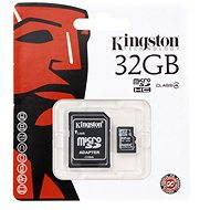 Kingston MicroSDHC 32 GB Class 4 + SD adaptér