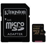 Kingston Micro SDXC 64GB Class 10 UHS-I + SD adaptér - Pamäťová karta