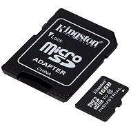 Kingston Micro SDHC 16 GB Class 10 UHS-I Industrial Temp + SD adaptér