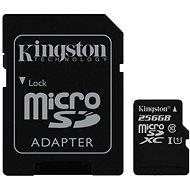 Kingston MicroSDXC 256GB UHS-I U1 + SD adaptér - Pamäťová karta