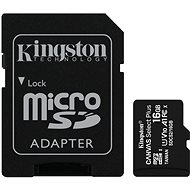 Kingston Canvas Select Plus micro SDHC 16GB Class 10 UHS-I + SD adaptér - Pamäťová karta