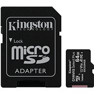 Kingston Canvas Select Plus micro SDXC 64GB Class 10 UHS-I + SD adaptér - Pamäťová karta