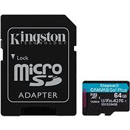 Kingston Canvas Go! Plus microSDXC 64GB + SD adaptér - Pamäťová karta