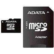 ADATA MicroSDHC 8 GB Class 4 + SD adaptér - Pamäťová karta