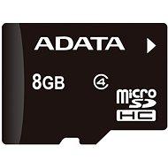 ADATA Micro SDHC 8GB Class 4 + OTG mikro čítačka - Pamäťová karta