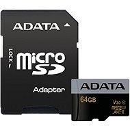 ADATA Premier Pro V30S microSDXC 64 GB UHS-I U3 + SD adaptér