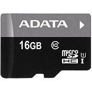 ADATA Premier microSDHC 16 GB UHS-I A1 Class 10 - Pamäťová karta