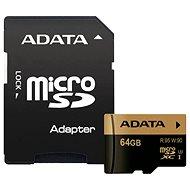 ADATA XPG Micro SDXC 64 GB UHS-I U3 Class 10 + SDHC adaptér - Pamäťová karta