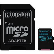 Kingston Canvas Go! MicroSDXC 128 GB UHS-I U3 + SD adaptér